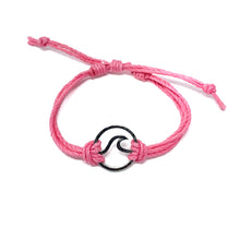Load image into Gallery viewer, wave pink string bracelet