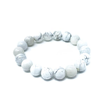 Load image into Gallery viewer, white howlite stone bracelet