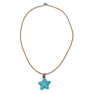 turquoise soapstone starfish necklace