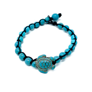 turquoise beaded sea turtle bracelet