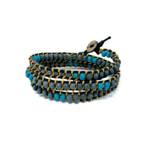 Load image into Gallery viewer, triple wrap beaded bracelets for men