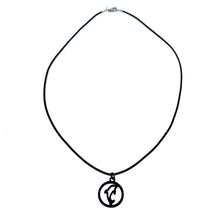 Load image into Gallery viewer, dolphin silhouette simple black necklace