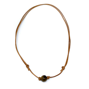 simple tiger eye stone necklace