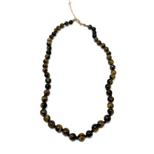 Load image into Gallery viewer, tiger eye semi precious stone beaded necklace