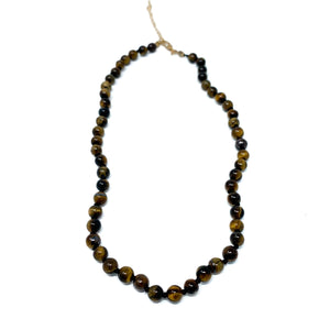 tiger eye semi precious stone beaded necklace