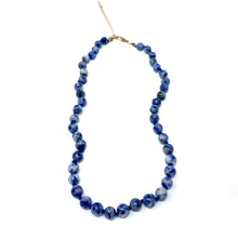 Load image into Gallery viewer, sodalite semi precious stone beaded necklace