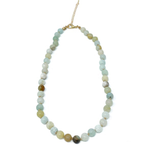Amazonite semi precious stone beaded necklace