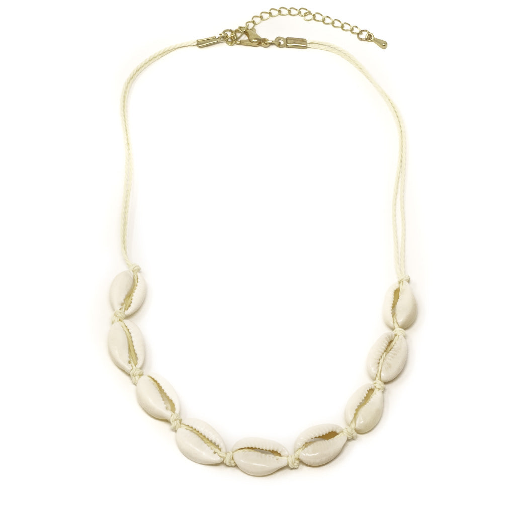white cowrie vsco girl sea shell choker necklace