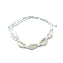 Load image into Gallery viewer, white cowrie sea shell bracelet