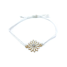 Load image into Gallery viewer, White flower charm string bracelet single