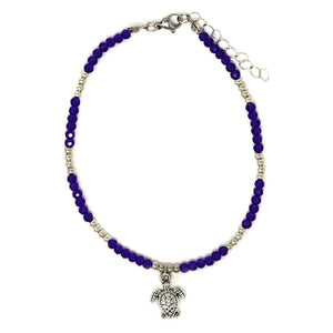cute womens beaded turtle anklet