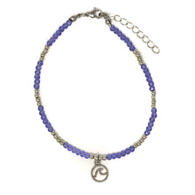 Load image into Gallery viewer, wave beaded sparkly anklet