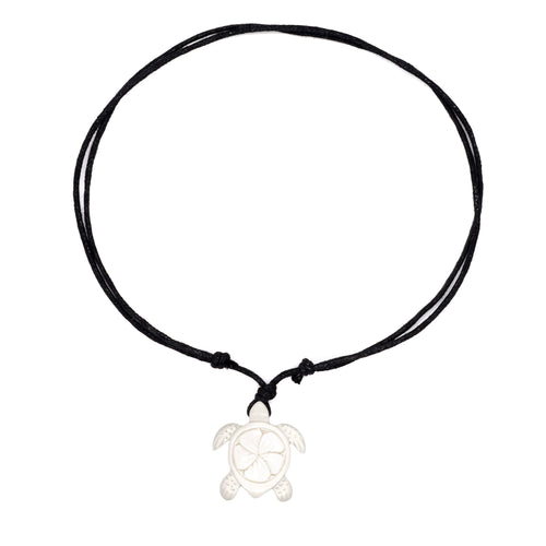 carved bone sea turtle necklace