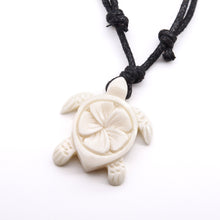 Load image into Gallery viewer, carved bone sea turtle necklace