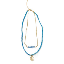 Load image into Gallery viewer, blue cute beach style hook necklace