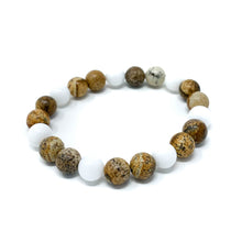 Load image into Gallery viewer, tan jasper beaded bracelet