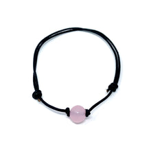 Load image into Gallery viewer, pink quartz stone anklet