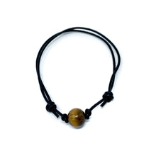Load image into Gallery viewer, Tiger Eye Stone Anklet