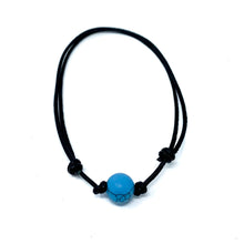 Load image into Gallery viewer, Blue Howlite Stone anklet