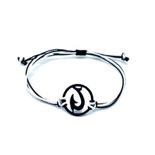 Load image into Gallery viewer, black matau fish hook string bracelet