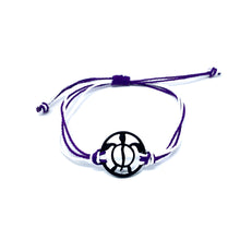 Load image into Gallery viewer, purple black turtle string beach bracelet