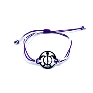 purple black turtle string beach bracelet