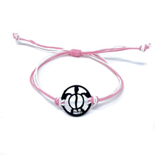 Load image into Gallery viewer, pink black turtle string beach bracelet