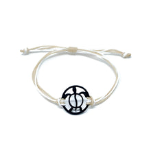 Load image into Gallery viewer, tan black turtle string beach bracelet