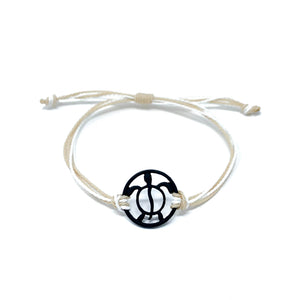 tan black turtle string beach bracelet