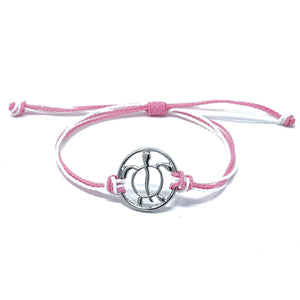 sea turtle pink string bracelet
