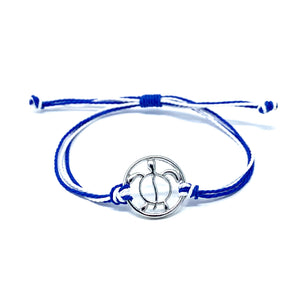 sea turtle blue string bracelet
