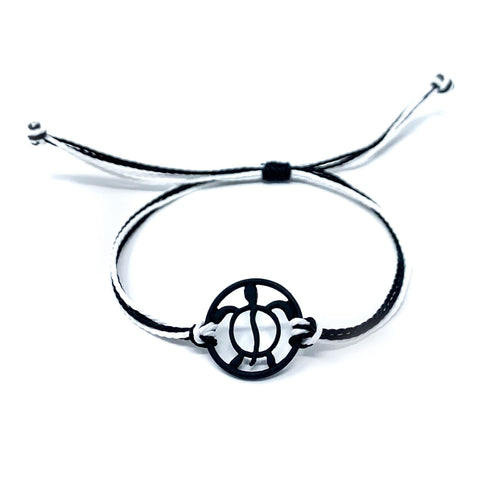 black turtle string beach bracelet