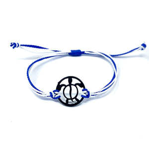 blue black turtle string beach bracelet
