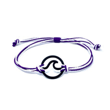 Load image into Gallery viewer, purple white wave string bracelet