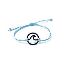 Load image into Gallery viewer, blue white wave string bracelet