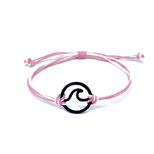Load image into Gallery viewer, pink white wave string bracelet