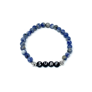 sodalite beaded surfer bracelet