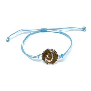 blue matau hook beach sand bracelet