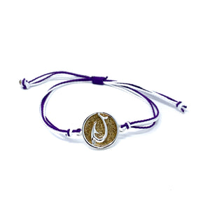 purple hook beach sand bracelet