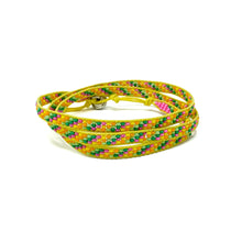 Load image into Gallery viewer, yellow beaded triple wrap bracelet