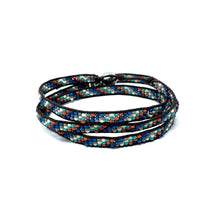 Load image into Gallery viewer, black colorful triple wrap beaded bracelet