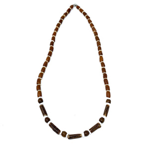 charming shark wood beaded surfer necklace