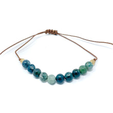 Load image into Gallery viewer, Blue Stone Beaded String Bracelet