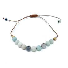 Load image into Gallery viewer, Stone Beaded String Bracelet