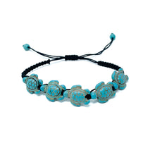 Load image into Gallery viewer, turquoise turtle beads braided bracelet