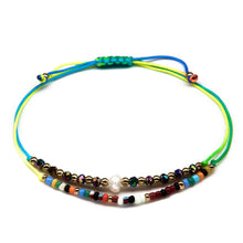 Load image into Gallery viewer, rainbow dainty cute girls string bracelet
