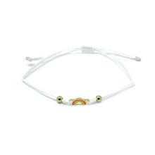 Load image into Gallery viewer, White Rainbow Charm Single String Bracelet