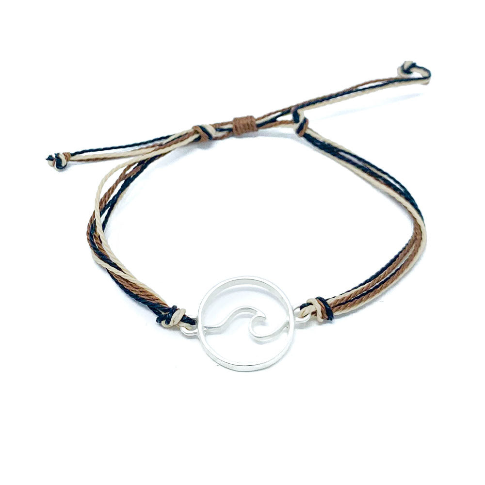 Brown Wave String Bracelet