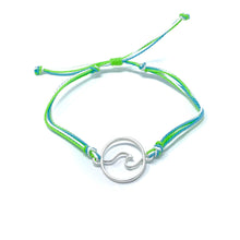 Load image into Gallery viewer, Green Wave String Bracelet