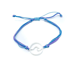 Blue Purple Wave String Bracelet